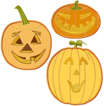 Applique Pumpkin Set