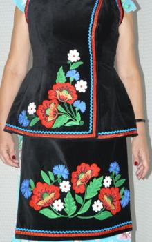 Folk Flower Applique Set