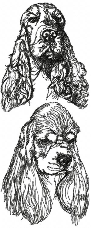 Cocker Spaniel Set