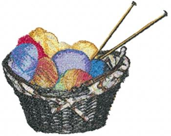 Knitting: Basket of Yarn