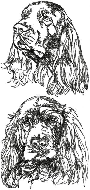 Sussex Spaniel Set