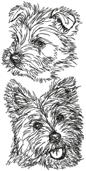 West Highland White Terrier Set