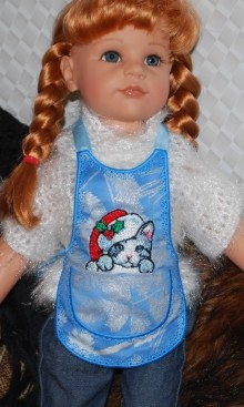 "Christmas Apron-in-the-Hoop for 18""-20"" Dolls"