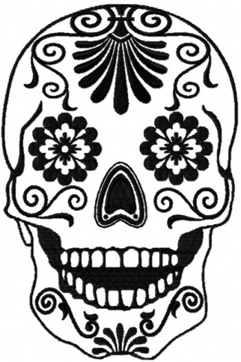 sugar skull designs coloring pages - photo#24