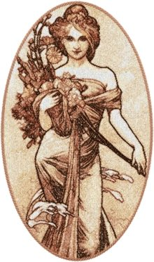 The Seasons: Spring by Alphonse Mucha