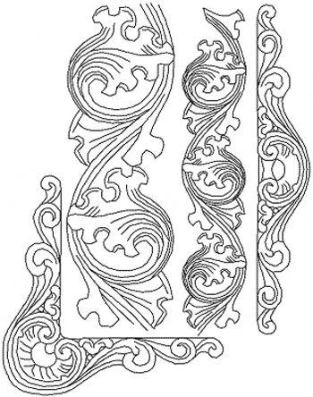 Advanced Embroidery Designs Art Nouveau Border Quilting Set