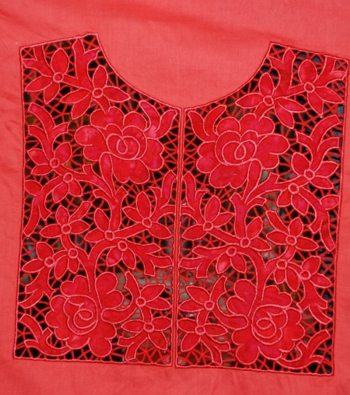 Cutwork Applique Lace Yoke