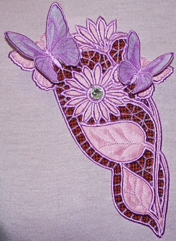 Butterflies and Flowers Cutwork Lace