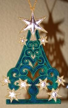 Applique Christmas Tree Ornament