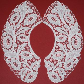Flower Cutwork Lace Collar