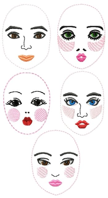 Embroidery Doll Face Designs Free