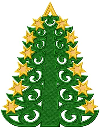 FSL Christmas Tree with Applique Stars