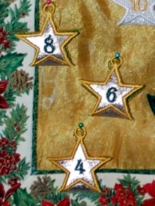 Freestanding Applique Advent Star Pouches