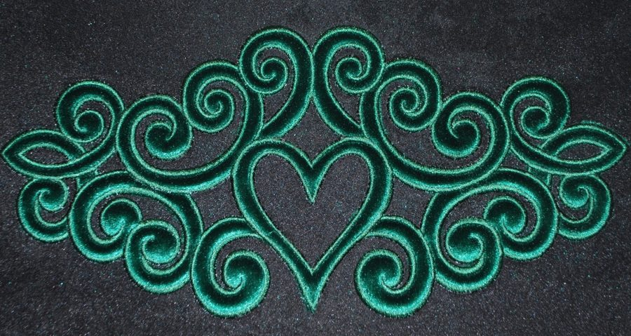 Advanced embroidery designs baroque applique motif with puffy foam