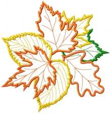 Applique Leaf Bouquet