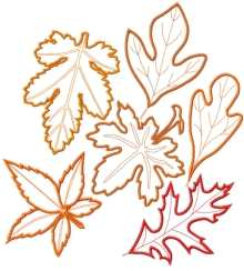 Leaves Applique Set III
