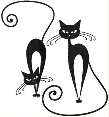 Whimsical Cat Silhouette Set I