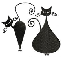 Whimsical Cat Silhouette Set II