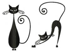 Whimsical Cat Silhouette Set III