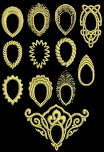 Advanced Embroidery Designs Embroidered Frames For Sew On Teardrop