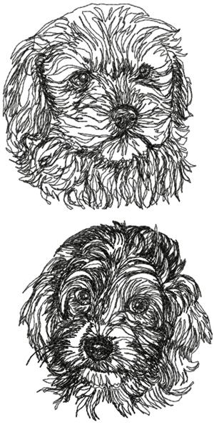 Cockapoo Dog Set