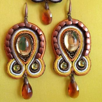 Soutage-Style Earring Set