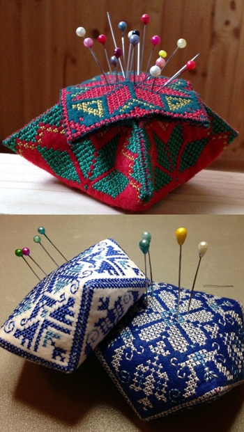 Biscornu Pincushion Set II