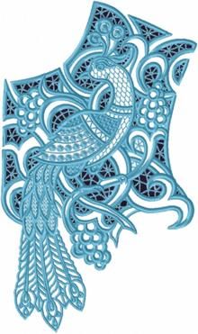 Cutwork Lace Peacock Yoke
