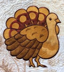 Turkey applique machine embroidery design.