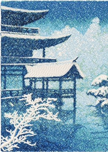 Golden Temple in Kyoto by Kawase Hasui