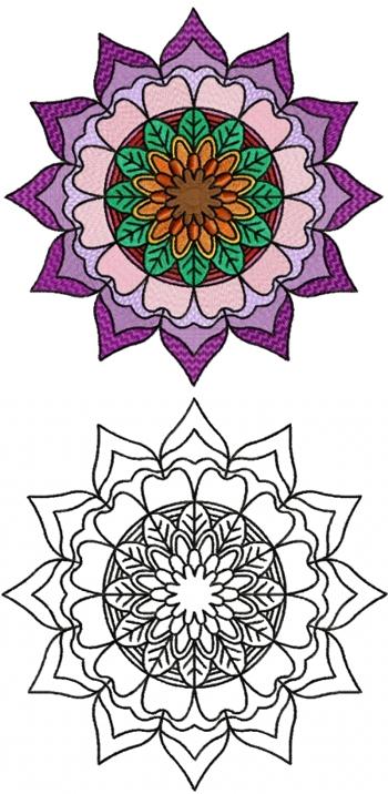 1af342843c408 Mandala Flower