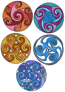 Celtic Spiral Set