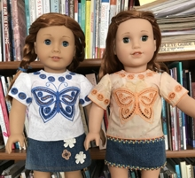 Butterfly Blouse for 18-inch Dolls