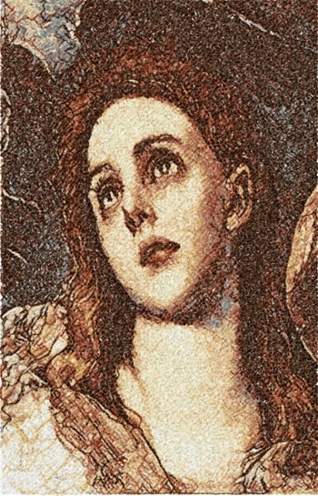 The Penitent Magdalene by El Greco. Detail.