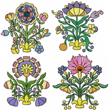 Folk Flower Set