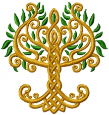 A tree inside celtic knots.