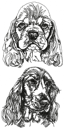 English Cocker Spaniel Set