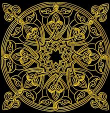 Medieval Mandala Machine Embroidery Design