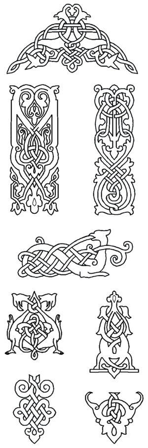 Redwork Celtic Knotwork Motif Set