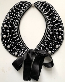 Detachable Peter Pan Collar with Pearls in-the-Hoop (ITH)
