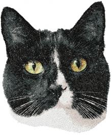Tuxedo Cat Machine Embroidery Design