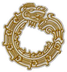 Aztec Snake Motif Machine Embroidery Design