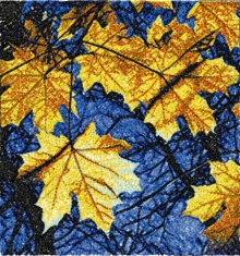 Fall Leaves Machine Embroidery Design