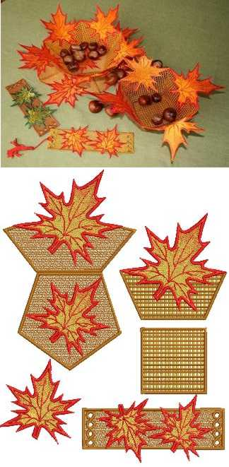 Maple Bowl and Doily Set