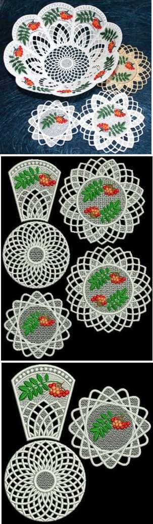 Rowan Bowl and Doilies Set