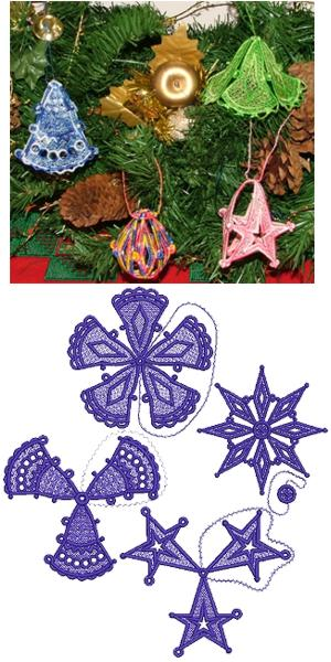 3D Christmas Ornament Set
