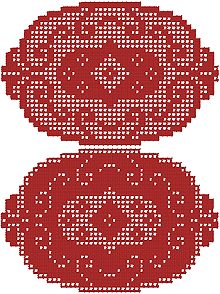 Oval Crochet Doily Set