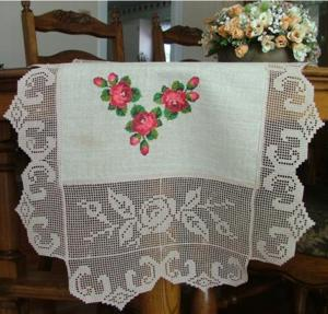 Rose Border Crochet FSL Set II