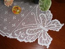 Crochet Butterfly Table Runner Set