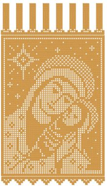 Madonna and Child Crochet FSL Banner